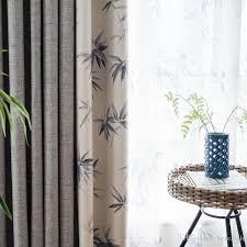 großhandel neue chinesische schlafzimmer 2018 neue gardinen nach maß studie grau pastoralen schatten chinesischen vorhang chinesischen stil