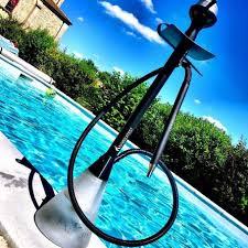 Modern hookah alongside a nice pool
