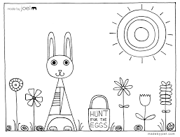 Easter Coloring Sheet Hunt For The Eggs