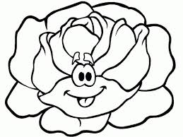 Cute Preschool Coloring Pages Vegetables