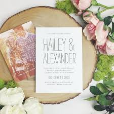 Summertime Wedding Invitation Designs