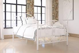 Twin Metal Canopy Bed Pewter With Curtains by Dorel Home Bombay Metal Bed Multiple Colors Multiple Sizes