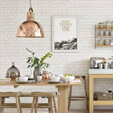 Metallic Tile Effect Wallpaper by Kitchen Wallpaper Ideas 10 Of The Best