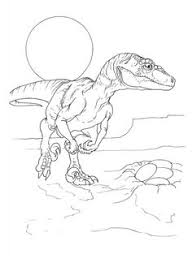 Free New Dinosaur Velociraptor Coloring Pages For Kids