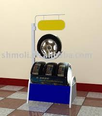 Details Tire Racking Display Stand For