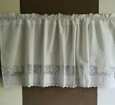 scheibengardine gardine weiß 50x120cm shabby vintage