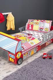 100 Toddler Truck Bedding Kidkraft Fire Multicolored 4piece