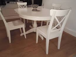Ikea Dining Room Sets by Round White Dining Table Ikea Starrkingschool