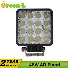 100 Truck Spotlights GreenL 1pc 4 Inch 48w 4x4 Offroad LED Work Light 12V Driving