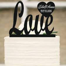 Wedding Cake TopperLove Topper With Date And First NamesPersonalized