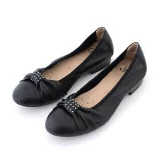 buy online flats bellies stylish black color flat shoes for