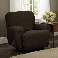 Ikea Tidafors Sofa Dark Brown by Amazon Com Maytex Stretch Reeves 4 Piece Recliner Slipcover