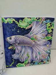Coloring Books Adult Colouring Painting Tutorials Colored Pencils Painted Silk 3 Doodles Fish