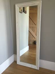 Tin Shed Portland Baby Beluga Recipe by Full Length Wood Framed Mirror Painted Cream Distressed Finish