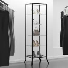 Pulaski Glass Panel Display Cabinet by Amazon Com Curio Cabinet Display With Glass Door And Lock For