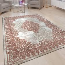vintage teppich orient design 3 d beige rosa