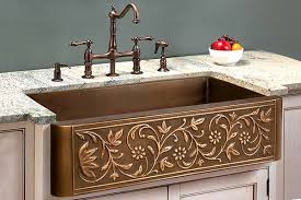 Copper Sinks With Drainboards by Apron Front And Farmhouse Sinks Index