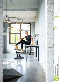 100 What Is A Loft Style Apartment Young Handsome Dancer Relaxing In Partment Stock