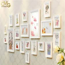 Super High Qualited Flowers Wood Wall Frames For Picture Frame Ideas 20 Pcs Set Used