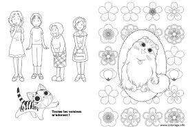 Coloriage De Chaton Illustration De Stock Coloriage Chaton Kawaii