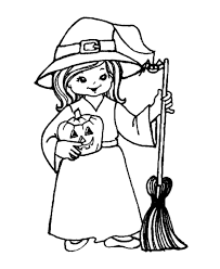 Stunning Ideas Witch Coloring Pages Halloween