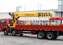 16 Ton Konstruksi Telescopic Boom Truck Crane Dengan 80 L / Menit ...