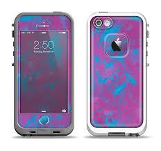 The Purple and Blue Paintburst Apple iPhone 5 5s LifeProof Fre