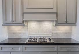 Mosaic Tile Company Merrifield by Creative Backsplash Ideas Antique Finish Cabinets Black Granite