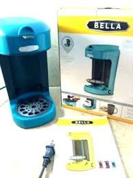 Bella Dual Brew Coffee Maker Instructions One Scoop Cup Turquoise Blue In Box