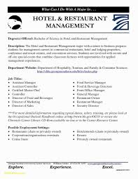 42 New Restaurant Manager Resume Sample Awesome Example Rh Dragandabic Com General Samples For Hospitality Industry