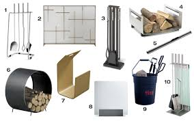 10 Modern Fireplace Tools & Accessories Design Milk