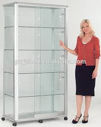 Wall Display Cabinets For Collectibles Boutique Store Fixtures Glass Shelves Salon Retail Case