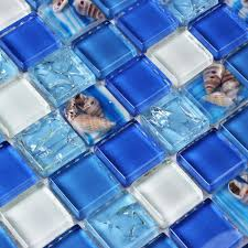 kristall galss shell harz mosaik fliesen blau weiß mutter der perle wand fliesen küche back badezimmer hintergrund 3d tapete