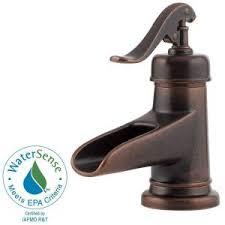 pfister ashfield 4 in single handle low arc bathroom faucet in