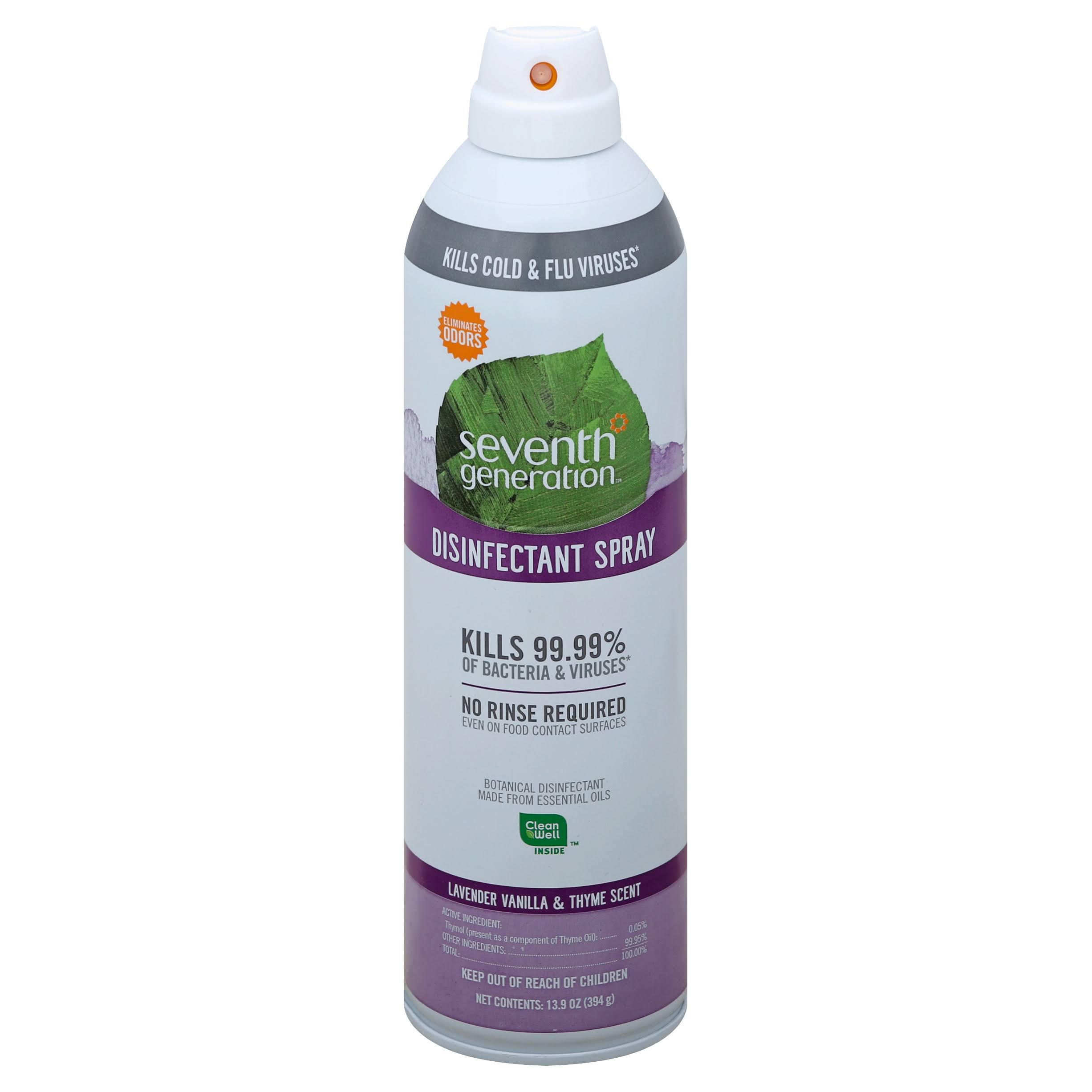 Seventh Generation Disinfectant Spray - Lavender, Thyme, 13.9oz