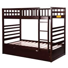 allentown twin over twin bunk bed espresso fresh design ideas