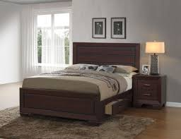 Coaster Curio Cabinet Assembly Instructions by Fenbrook Dark Cocoa Panel Bedroom Set From Coaster Coleman Furniture