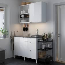 enhet küche weiß hochglanz weiß 123x63 5x222 cm