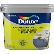 dulux fresh up lack für küchen möbel und türen satin beton grau 750 ml