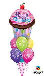 Big Happy Birthday Pink Cupcake