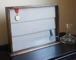 Large Wood Medal Case 3 Panels
