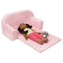 Badger Basket Doll Bed by Badger Basket Upholstered Doll Sofa With Foldout Bed Pink