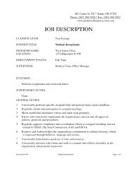 medical front office job description sle etl test cases how to