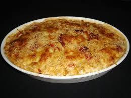 gratin de pâtes au pesto rosso et au chorizo ça ne sent pas un