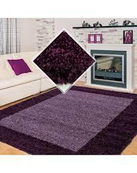 hochflor langflor wohnzimmer shaggy teppich 2 farbig florhöhe 3cm lila violett größe 60x110 cm