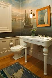 Beach Themed Bathroom Decorating Ideas by Sea Bathroom Wall Murals Nautical Ship Mural Beach Themed