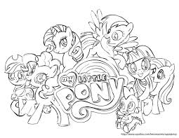 My Little Pony Friendship Is Magic Coloring Pages To Print And