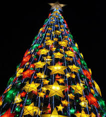 Filipino Christmas Tree Features Star Lanterns