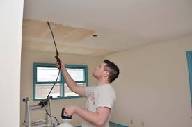 Scraping Popcorn Ceiling Off by How To Scrape Painted Popcorn Ceilings And Baby Room Update