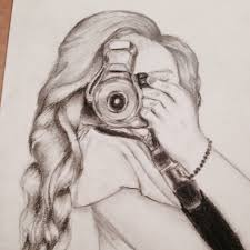 Bunch Ideas Of Tumblr Drawing Camera Girl Paintings Drawings Magnificent California Outline